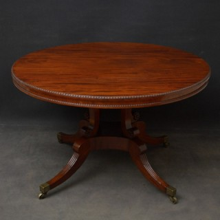 Regency Figured Mahogany Centre or Dining Table In The Manner Of William Trotter