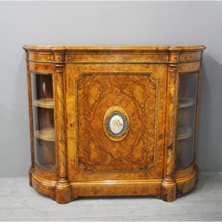 Victorian Burr Walnut Credenza