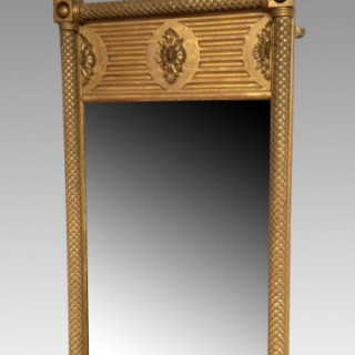Regency Gothic carved giltwood mirror.