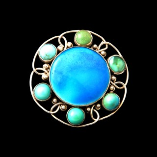 A Charles Ashbee for the Guild of Handicraft silver brooch