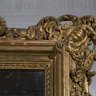 Fine 19th Century Gilded Overmantel Mirror