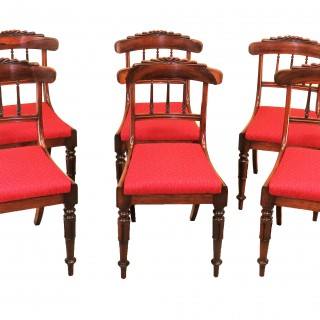 Regency Rosewood Set Of Six Antique Dining Chairs