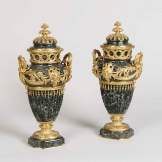 An Elegant Pair of Urns by F. Barbedienne