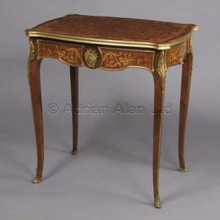 A Gilt-Bronze Mounted Parquetry Inlaid Occasional Table