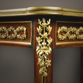 A Fine Louis XVI Style  Mahogany and Marquetry Centre Table