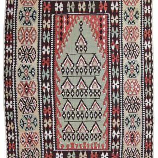 Rare Silk Erzurum Kelim, Anatolia