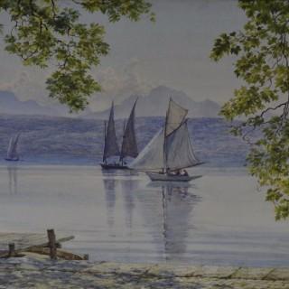 Sir Edward John Poynter - Boating on the Italian Lakes