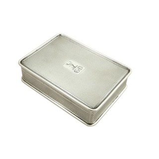 Large Antique Georgian Sterling Silver Table Snuff Box 1822