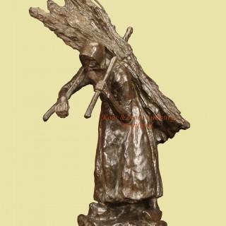 Royal Provenance  Palace: Soestdijk, Soest, The Netherlands A beautiful bronze sculpture Of a wood gatheran,