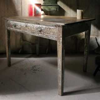 A French Painted Pine Side Table c.1890