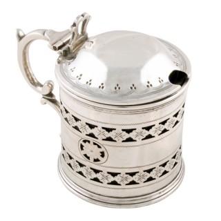 Victorian Sterling Silver Mustard Pot