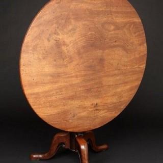 George II figured mahogany over-sized Tripod Table