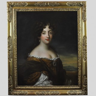 Oil on canvas portrait of Hortense Mancini