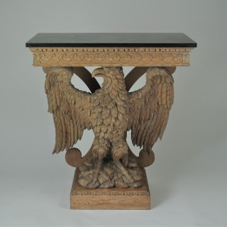 Carved Eagle Console Table