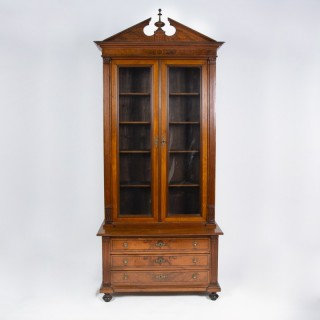 NEOCLASSICAL WALNUT BOOKCASE