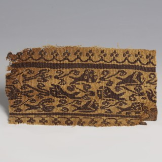 Coptic Textile Fragment with Zoomorphic Decoration