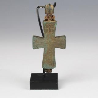 Byzantine Enkolpion with Mary Orans
