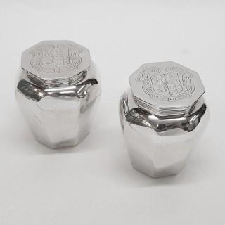 Antique 17th Century Silver Toilet Jars
