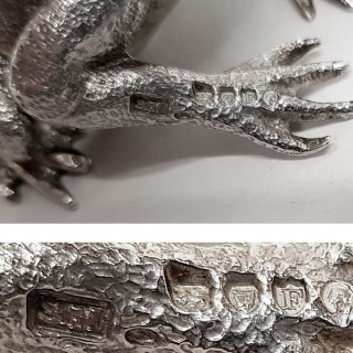Antique Silver Frog Peppers