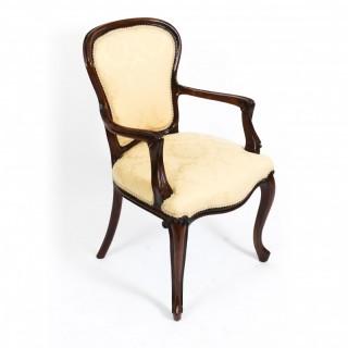 Antique French Louis Revival Arm chair Cabriole leg 19th C
