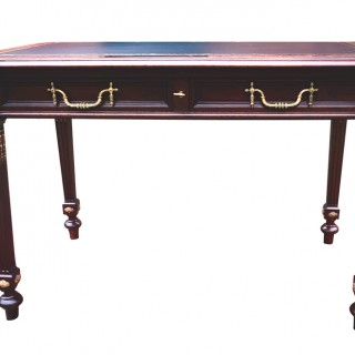 Antique French Mahogany and Ormolu Mounted Writing Table