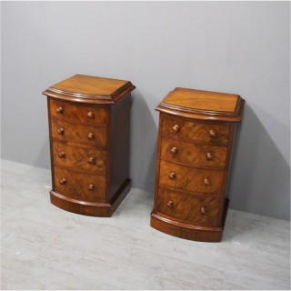Pair of Victorian Bow Front Bedsides