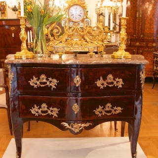 Louis XVI Kingwood Commode or Chest of Drawers, Stamped