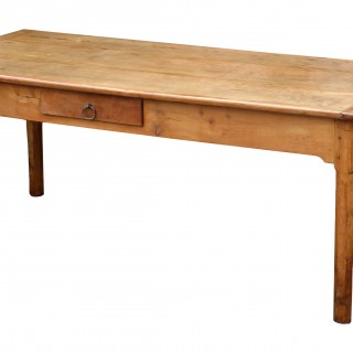 19th Century French Cherrywood Farmhouse Dining Table