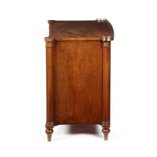Regency mahogany, brass line-inlaid and rosewood crossbanded side cabinet