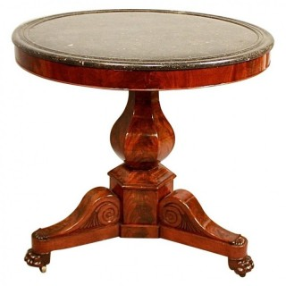 Charles X Mahogany Gueridon or Centre Table