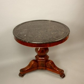 Charles X Mahogany Gueridon or Centre Table