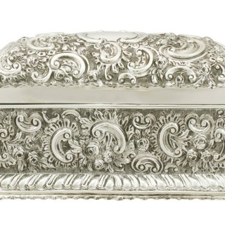 Sterling Silver Jewellery Casket - Antique Victorian (1891)