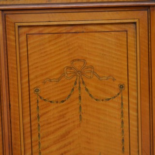Exceptional Sheraton Revival Corner Cabinet in Satinwood