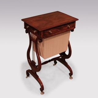 Early 19th Century Regency Mahogany Work Table