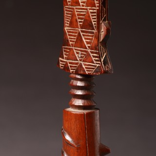 West African Ghana Fanti Peoples Female Fertility Doll 'Akuaba'