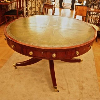 Large Mahogany Regency/George III Centre Table, early 19th Century