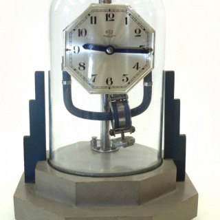 Art Deco Bulle clock under a glass dome