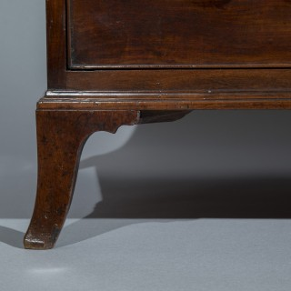 George III Mahogany Bow-Front Commode, Attributed to Gillows