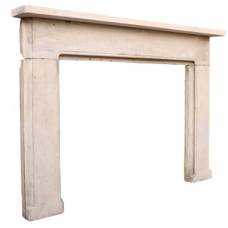 Antique English Regency Style Limestone Fire Surround