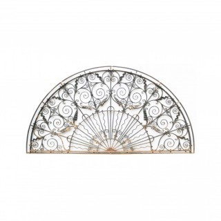 Antique Wrought Iron Semi Circular Fan Light