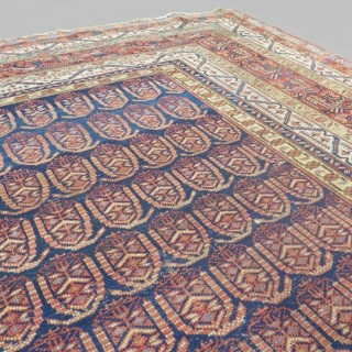 Square shape antique Malayer carpet