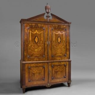 An 18th Century Dutch Neoclassical Mahogany Armoire