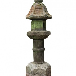 Antique Japanese Granite Toro / Kasuga Lantern