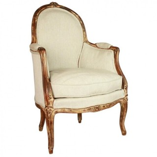 French Louis XV  Style Armchair or Bèrgère en Cabriolet, 19th Century