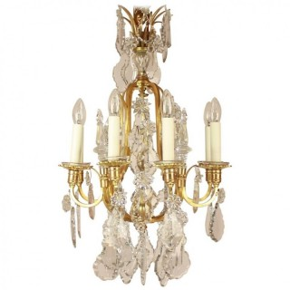 Small French Louis XV Style Eight-Light Chandelier, ca. 1900