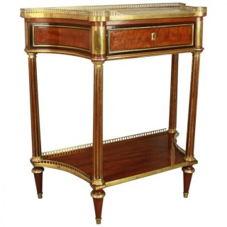 French Louis XVI Neoclassical Mahogany Console Table or