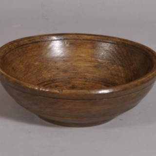 Antique Treen 18th Century Sycamore Food Bowl