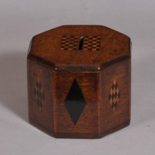 Antique Treen 19th Century Mahogany Money Box