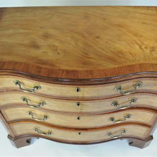 Hepplewhite period satinwood serpentine Chest of Drawers
