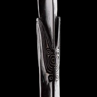 Papua New Guinea Trobriand Islands Massim Peoples Figural Lime Spatula